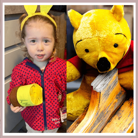 World Book Day 2021 - Elin as Winnie the Pooh