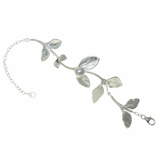 ROC Leaf and Pearl Bracelet