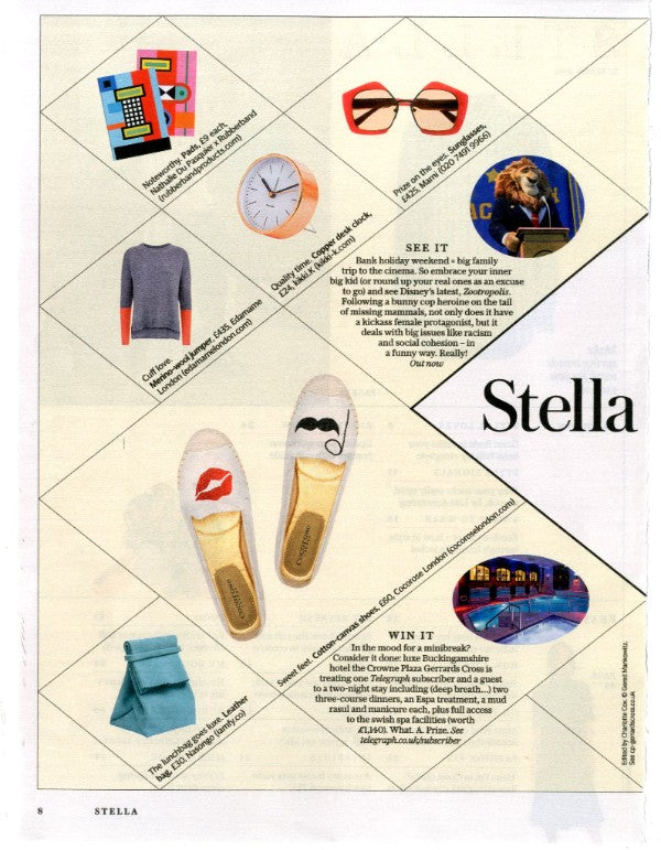 Cocorose London Carnaby Foldable Espadrilles - As Seen In Stella Magazine