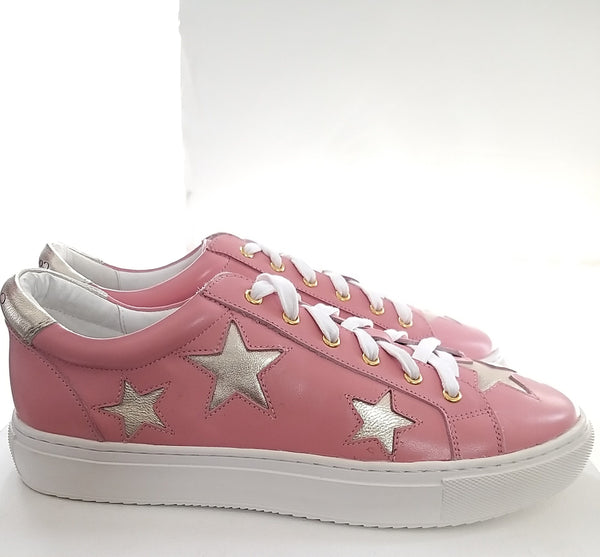 Cocorose Hoxton Pink and Gold Star Trainers | Womens Designer Trainers