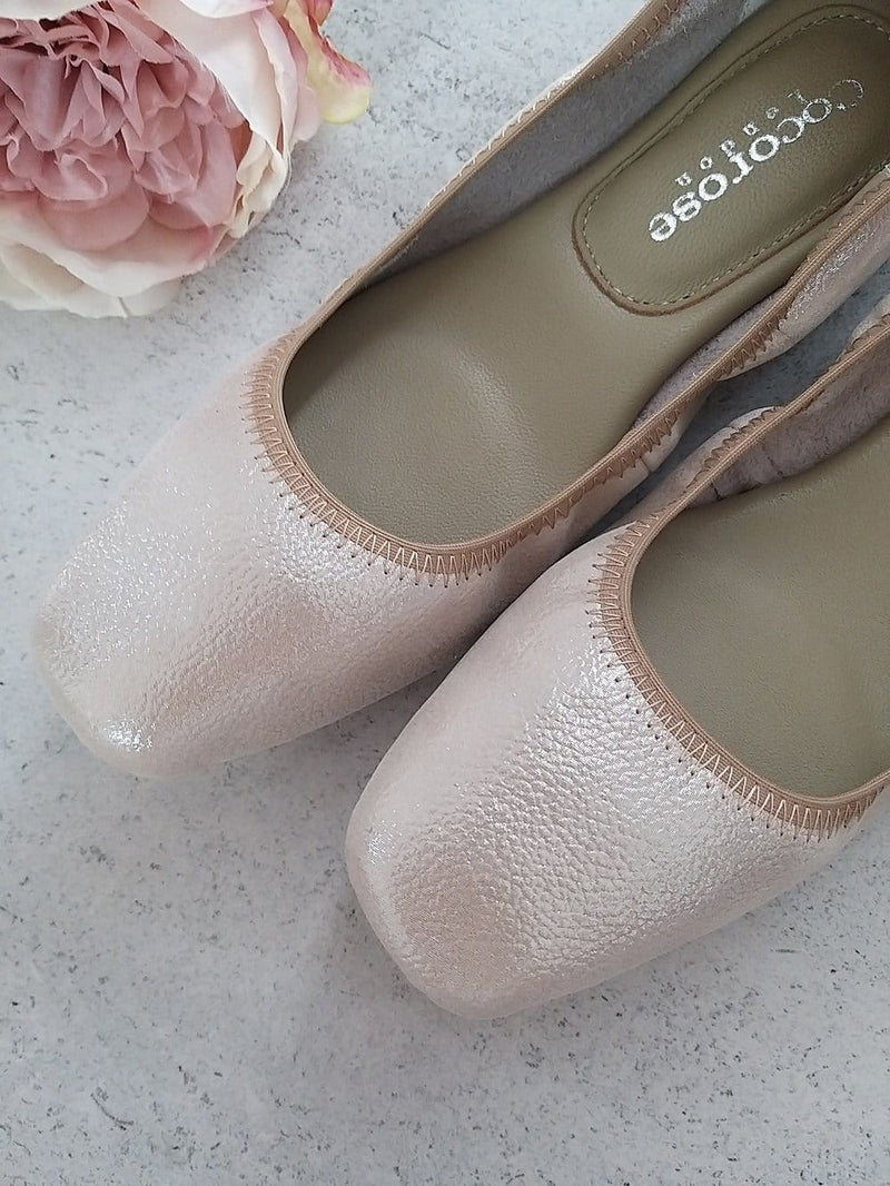 beautiful, comfortable and soft leather ballerinas for special occasion wear including weddings, races and other posh events