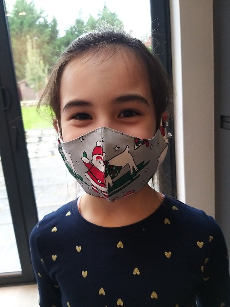 christmas and festive face mask for children
