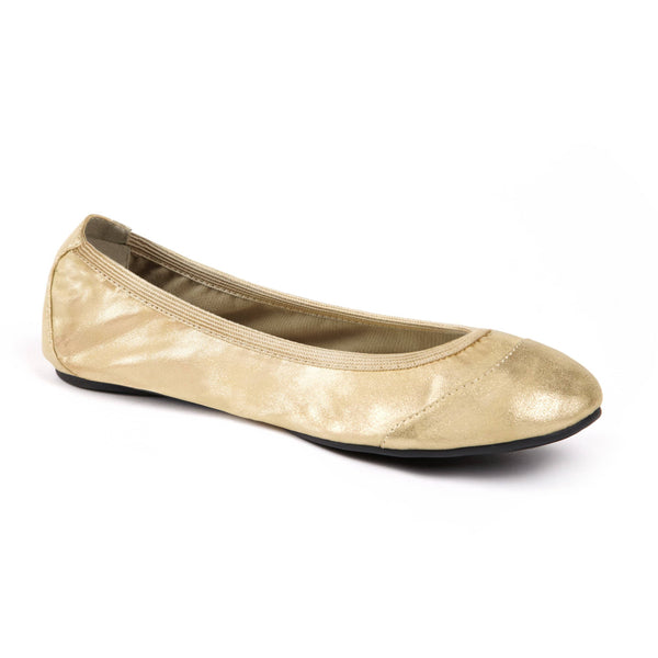 Trendy Gold foldable shoe