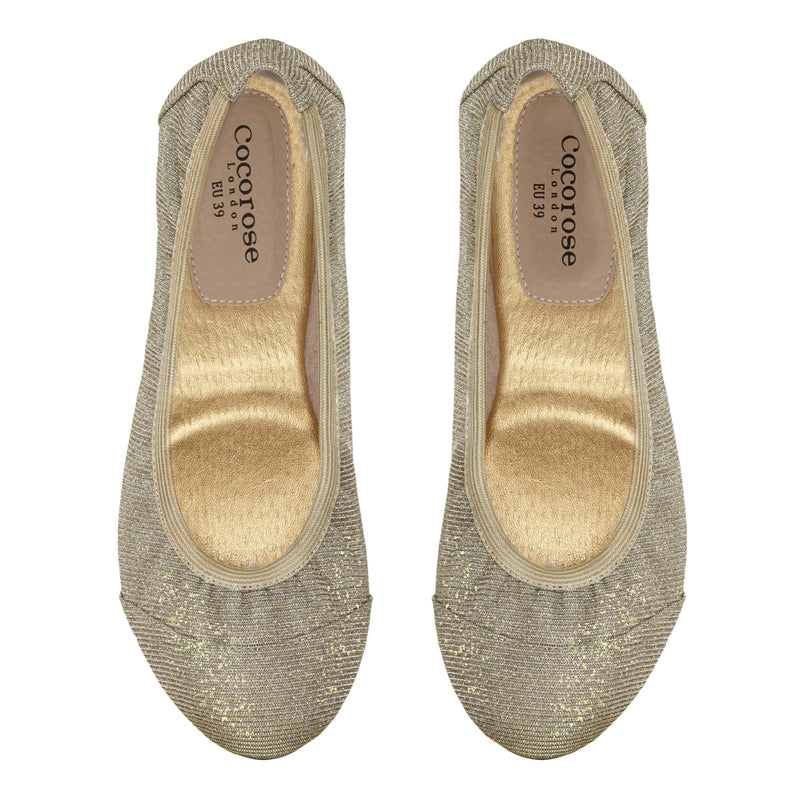 Desert Gold Sparkling Foldable Shoe