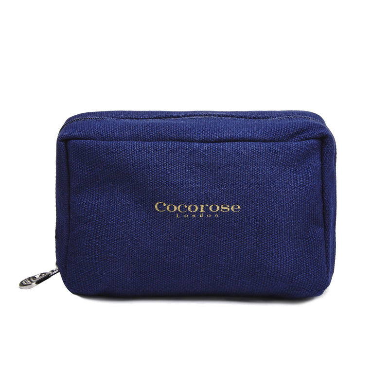 Blue Canvas Purse for foldup shoes
