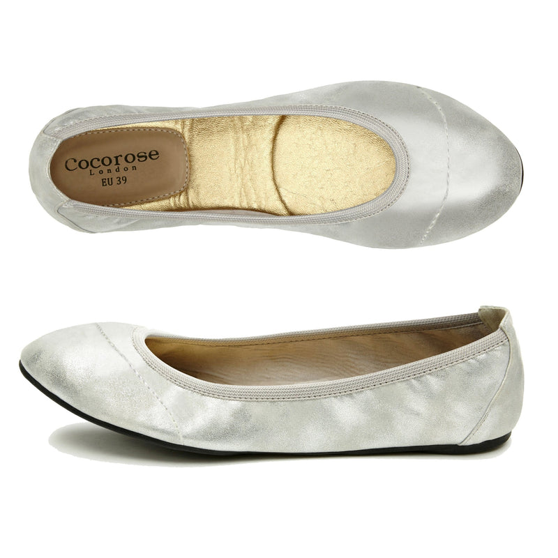 Birds Eye of Silver Foldable shoes
