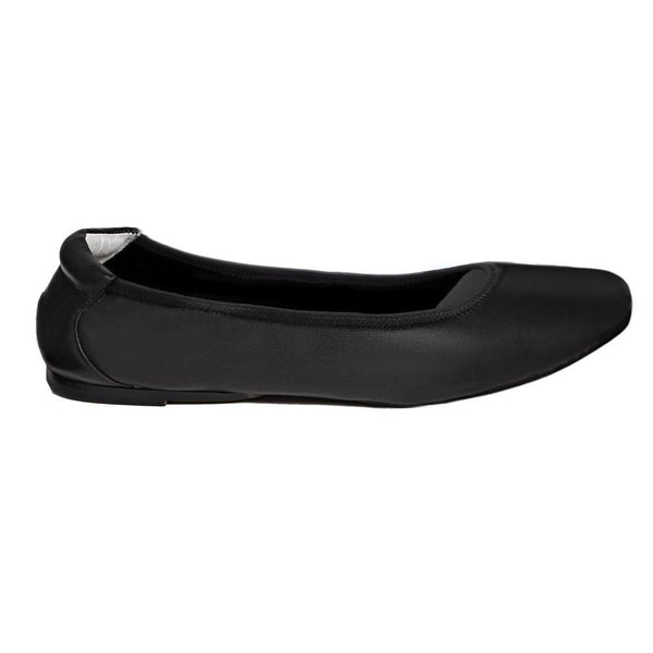 Cocorose Barnes - Black Foldable Soft Leather Ballet Pumps - Shoes