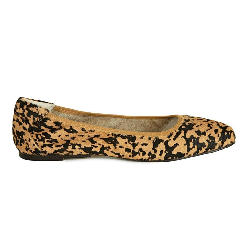 Cocorose Barnes Leopard Print Ballerina Flats -Foldable Leather Shoes