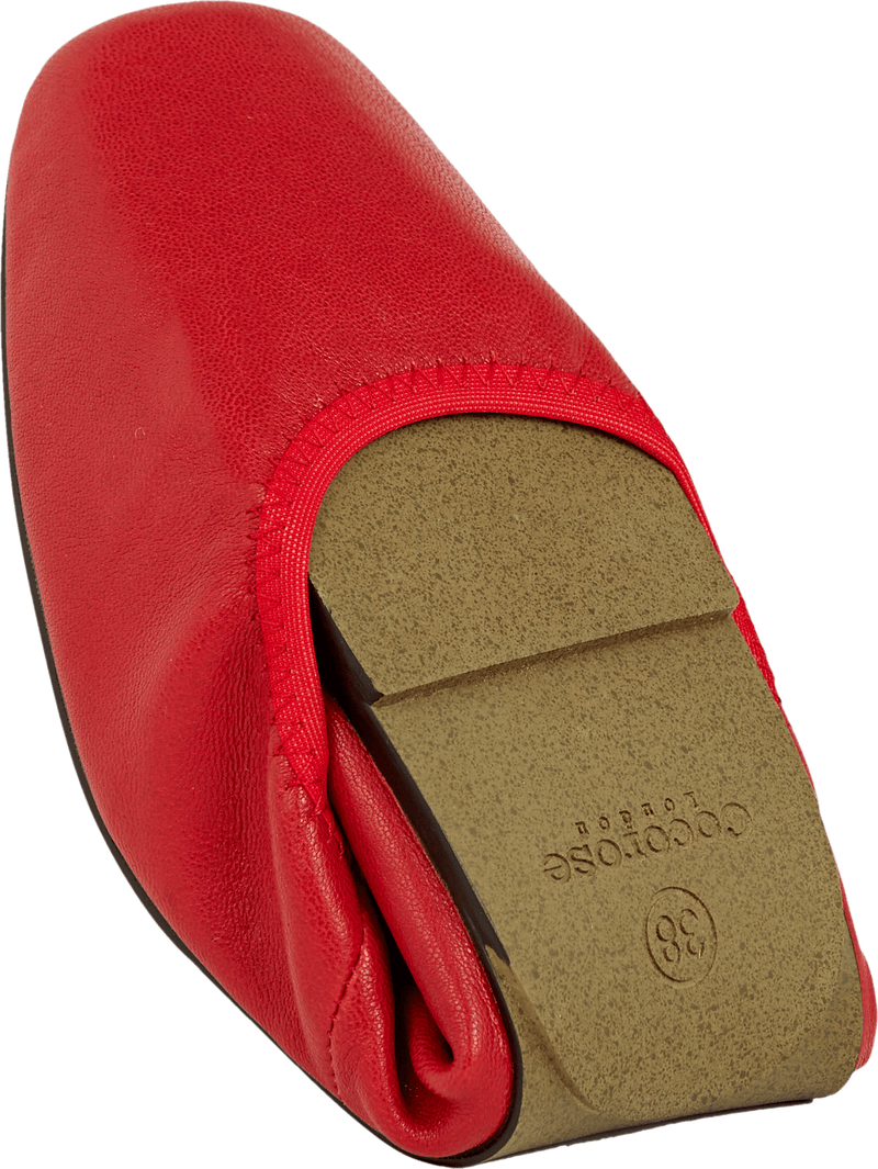 Cocorose Red Foldable Barnes Shoes