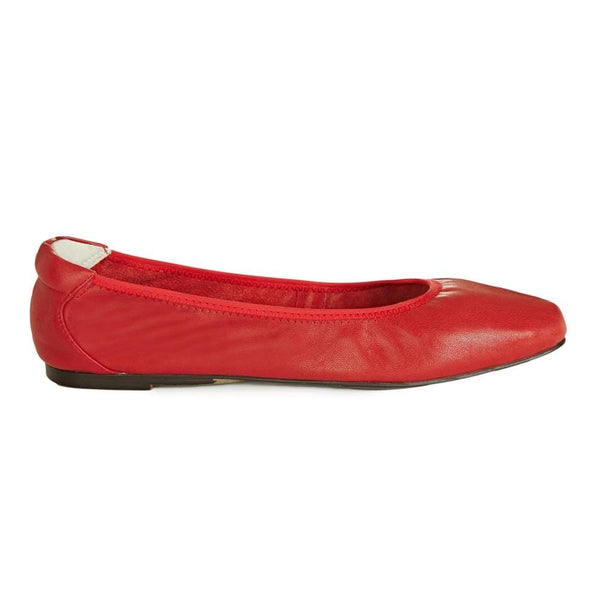 Cocorose Red Foldable Barnes Leather Shoes