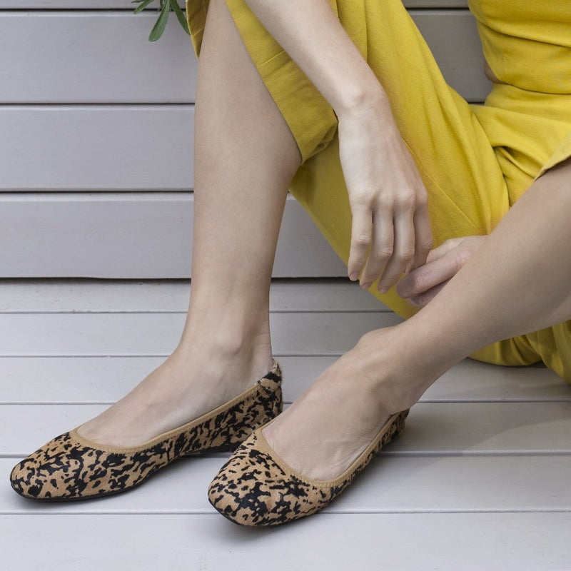 Cocorose Leopard Print Foldable Leather Shoes