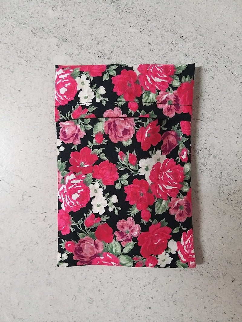 rose print storage pouch bag for face mask