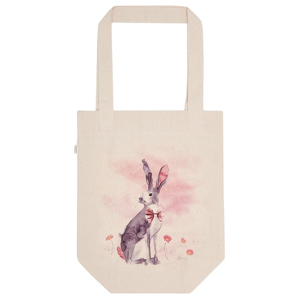 Cotton Canvas Shopping Tote Bag - Hare - British Countryside Collection