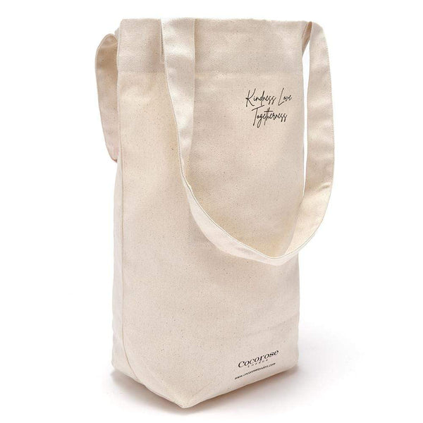 Stylish and quality canvas shopping bag with handles and gusset for easy packing