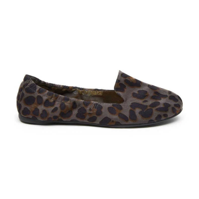 Carnaby - Grey Leopard Print Foldable Shoes