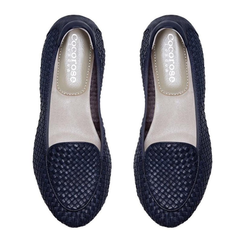 Clapham - Navy 2.0 Woven Leather Loafers