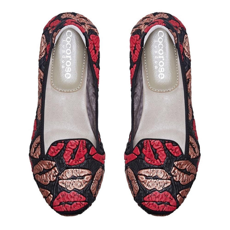 Farringdon - Kissing Lips Leather Loafers