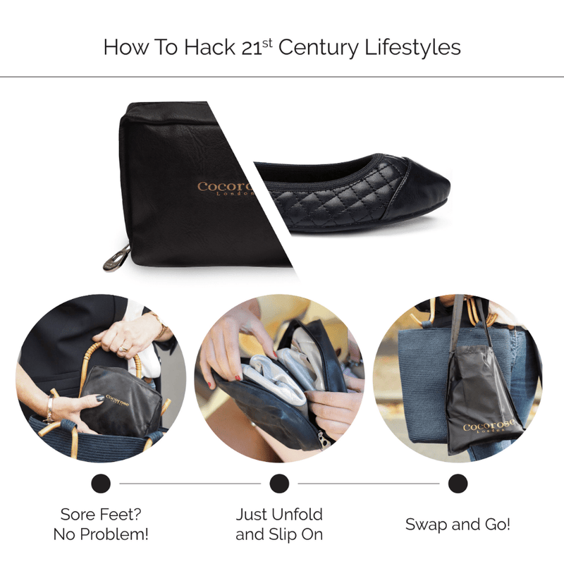 Cocorose London How to Hack 21st Century Lifestyles with Foldable Shoes