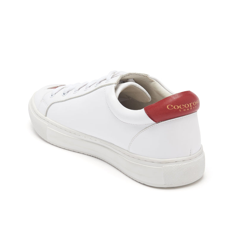 Ladies designer white trainers - sneakers