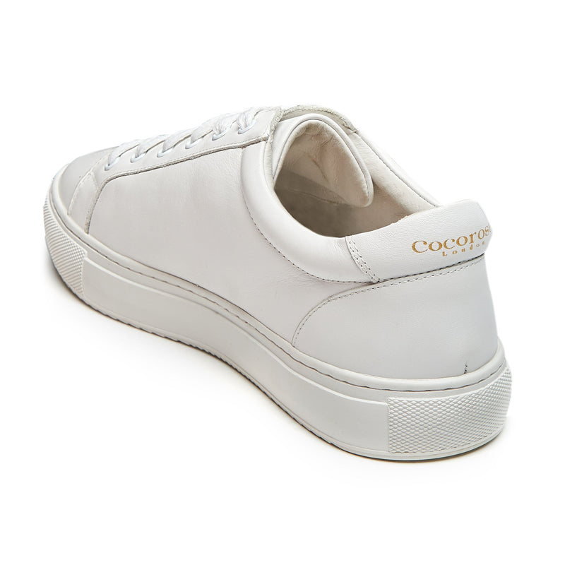 Comfortable and stylish all white trainers