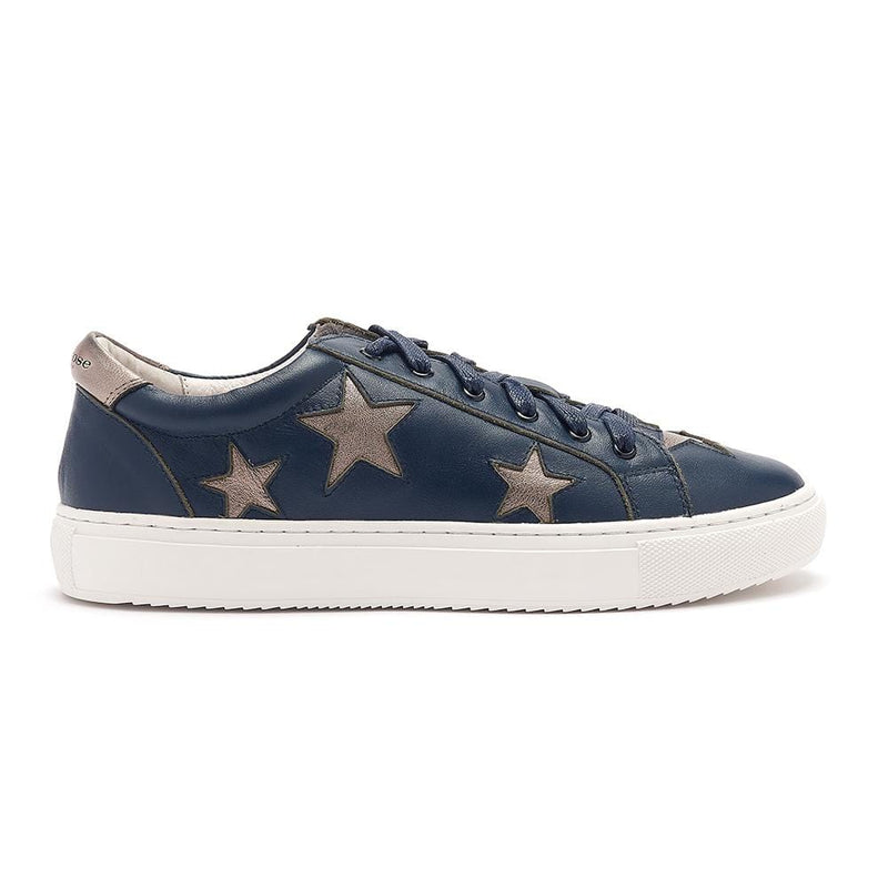 Cocorose Navy Leather Trainers