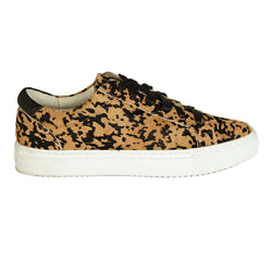 Hoxton - Leopard Print Leather Trainers