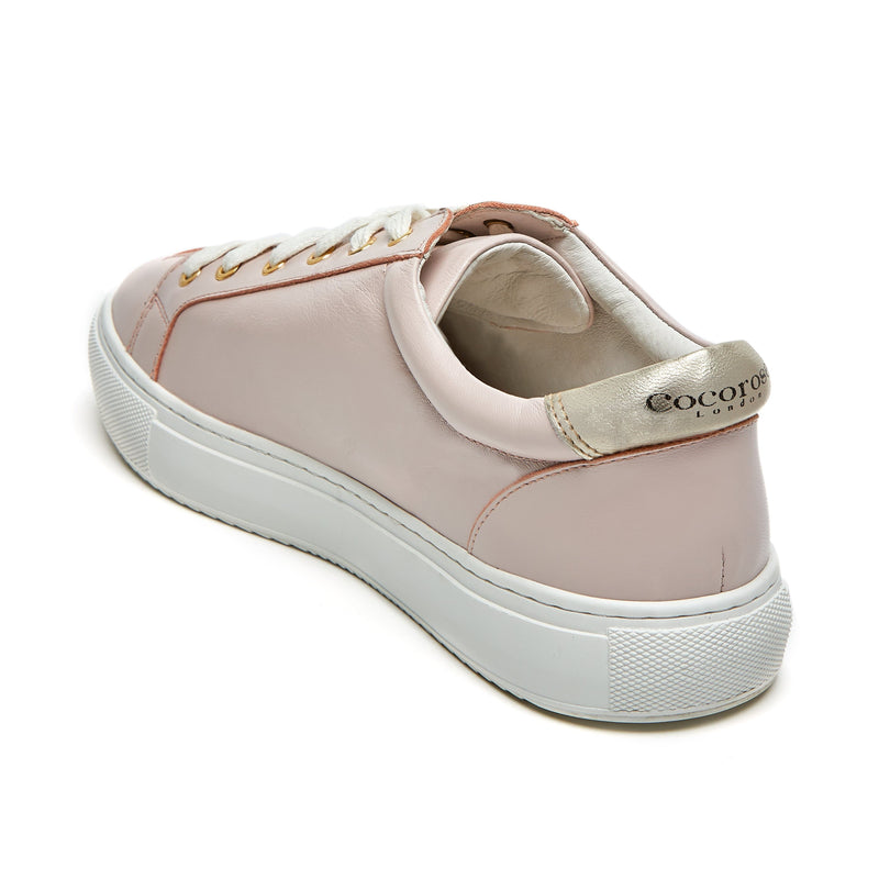 Image from back of Hoxton - Pastel Pink with Gold Stars Trainers