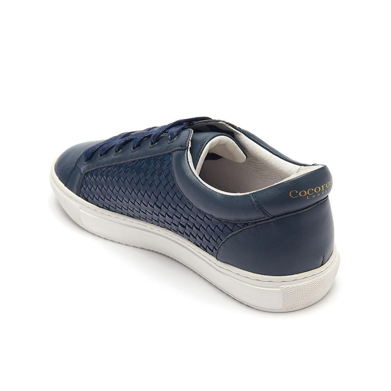 Cocorose London Women's Designer Trainers in navy leather