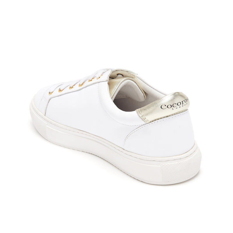 Cocorose Hoxton White Leather Rainbow Trainers