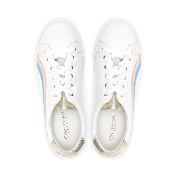 Rainbow trainers launched in line with Mental Health Awareness Week | Symbolising Hope, Love and Peace | Cocorose Hoxton Trainers