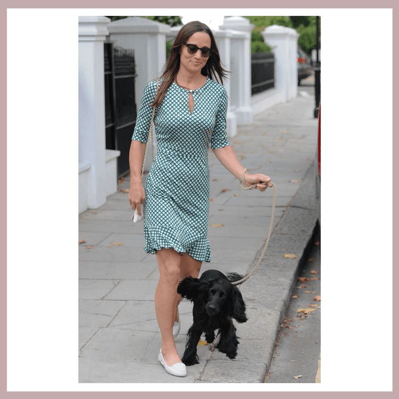 Pippa Middleton Matthews in her Cocorose Clapham White Woven Leather Loafers