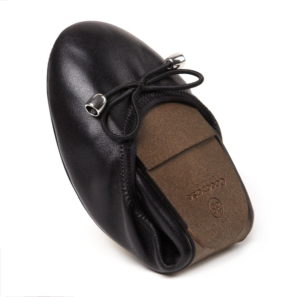 foldable black ballet pumps