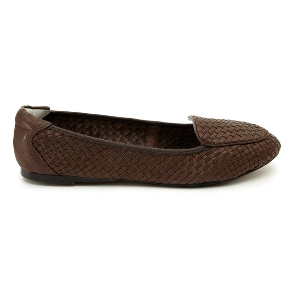 Clapham - Brown Woven Leather Loafers