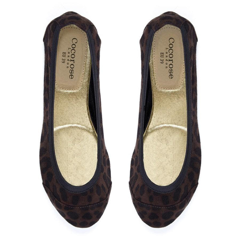 Leopard Fold Up Ballet Flats .. size UK3 Only
