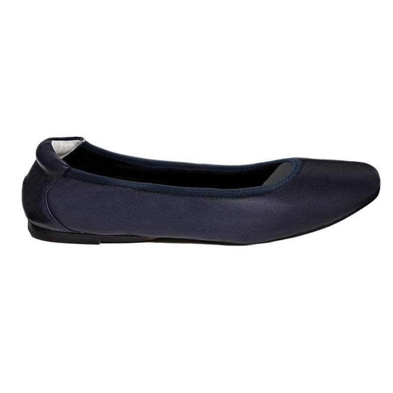 Barnes - Navy Leather Ballerina Flats