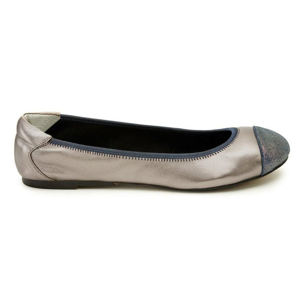 Cocorose Leather Pewter Flats