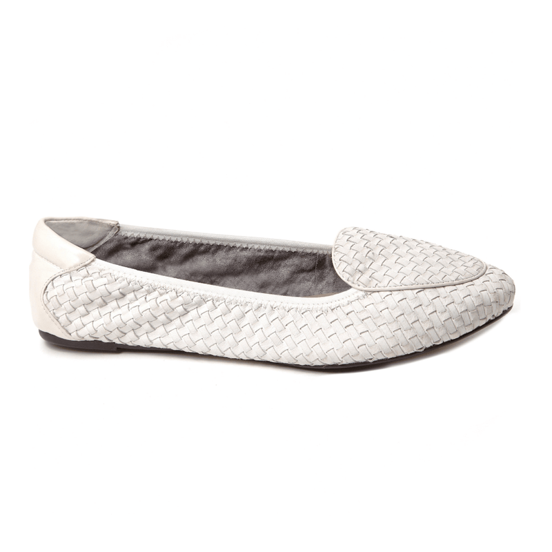 Clapham - White Designer Loafers - Womens
