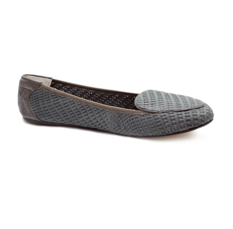 Clapham - Grey Woven Leather Loafers