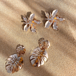 GOLD PALMS EARRINGS