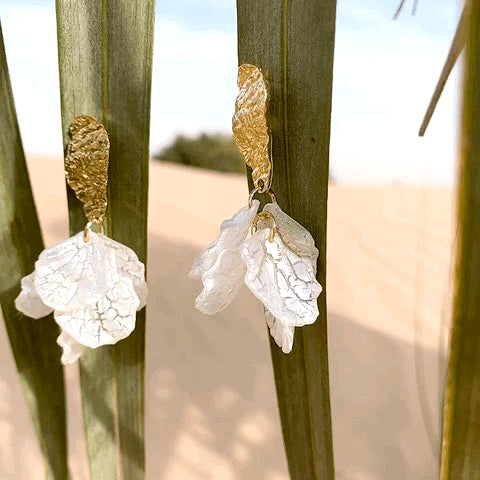 Load image into Gallery viewer, WHITE SNOWDROP EARRINGS
