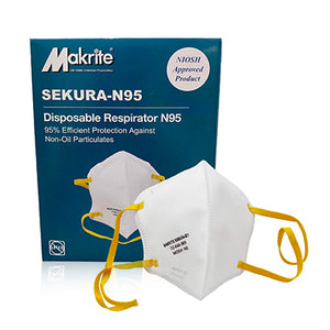 Niosh N95 Folder Mask Sekura 10 Pack