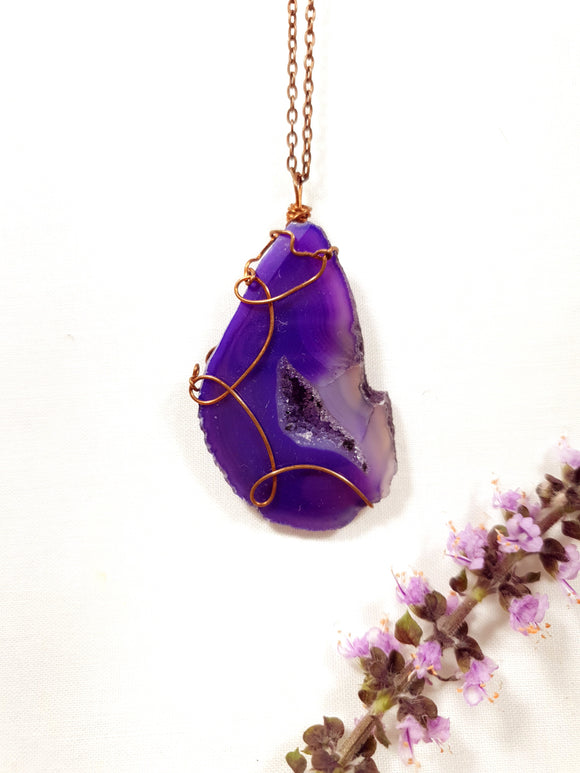 Purple Agate Pendant