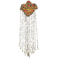 Vintage 1920s Art Deco Beaded Tassel Applique Tassle - Poppy's Vintage Clothing