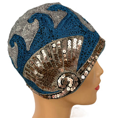 Vintage 1920s Flapper Cloche Hat
