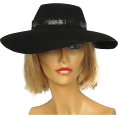 Vintage 1940s Ladies Fedora Hat Genuine Fur Felt Lady Biltmore Canada - Poppy's Vintage Clothing