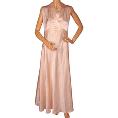 Vintage-1940s-Pink-Silk-Nightie