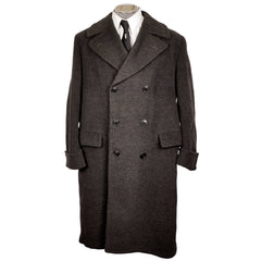Vintage 1950s Mens Wool Overcoat - Dated 1950 - Size L XL