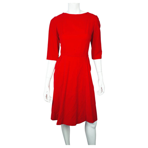 Vintage 1960s Dress Red Velvet Valentines Day Size Small Medium - Poppy's Vintage Clothing