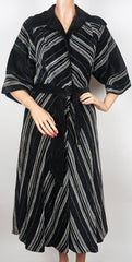Vintage 1970s Striped Chenille Coat by Aristos of London- Carnaby St.