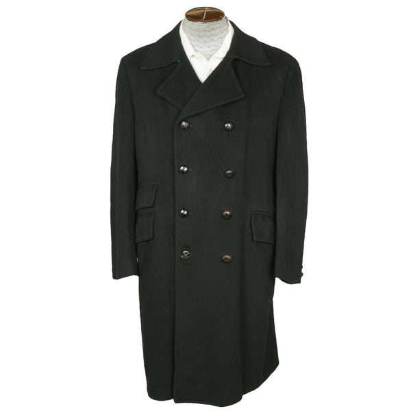 1960s-Mod-Military-Style-100%-Pure-Cashmere-Overcoat